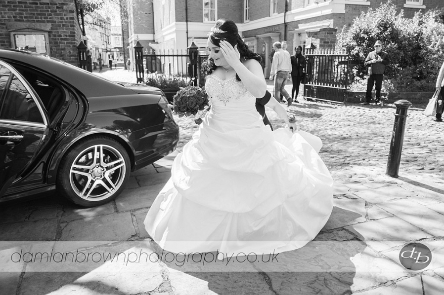 birmingham wedding photographer nantwich wedding photography the bride arrives