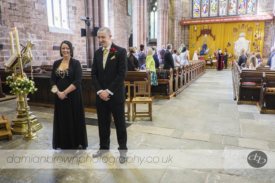 birmingham wedding photographer nantwich wedding photography the  groom and his best woman await